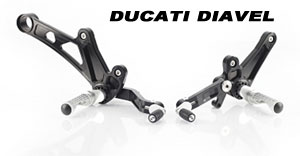 Rearsets for Ducati Diavel.
