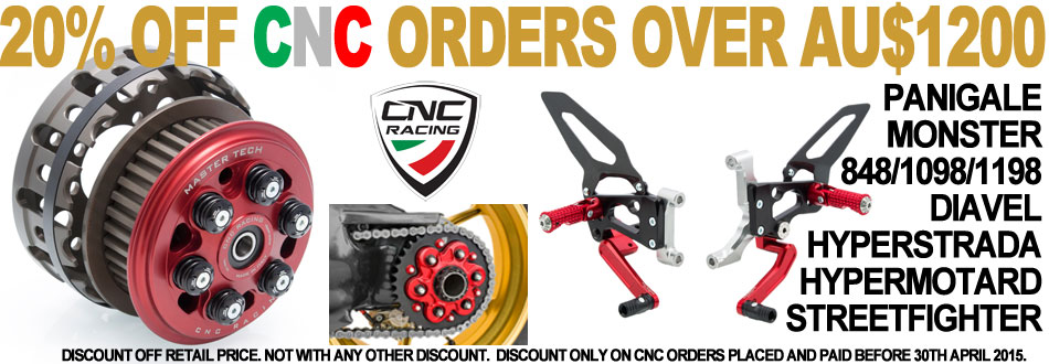20% OFF all CNC orders over AUD$1200 during April 2015 - CLICK HERE.