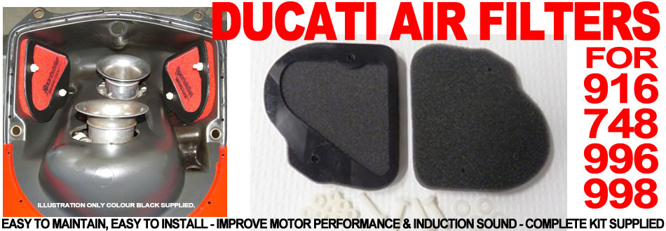 Ducati 916, 748, 996 & 998 Performance Air Filters.