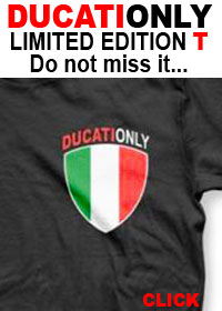 Ducati owners, GET YOUR DUCATIONLY T HERE. LIMITED NUMBER AVAILABLE.
