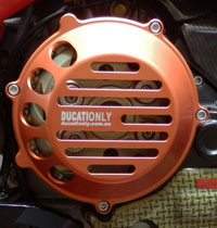 Ducationly Ducati Clutch Cover, vented, strong and good looking.