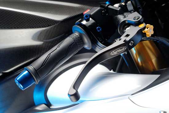 Lightech Folding Brake and Clutch levers replace OEM or Brembo.